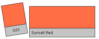 LEE Filter Roll 025 Sunset Red