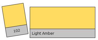 LEE Filter Roll 102 Light Amber