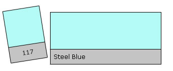 LEE Filter Roll 117 Steel Blue
