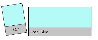 Lee Filter Roll 117 Steel Blue