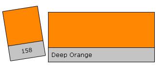 Lee Filter Roll 158 Deep Orange