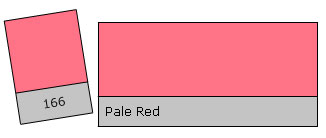 Lee Filter Roll 166 Pale Red
