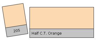 Lee Filter Roll 205 H. C.T. Orange