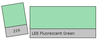 Lee Filter Roll 219 Fluor. Green
