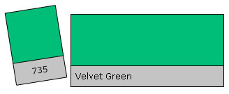 Lee Filter Roll 735 Velvet Green