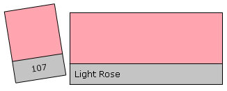 Lee Colour Filter 107 Light Rose
