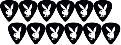 Playboy Rabbit Head Plektrum Heavy BK
