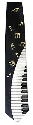 Musikboutique Hahn Tie Dark Blue with Keyboard
