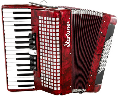 Startone Piano Accordion 72 Red B-Stock