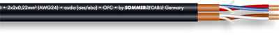 Sommer Cable Peacock AES/EBU Black