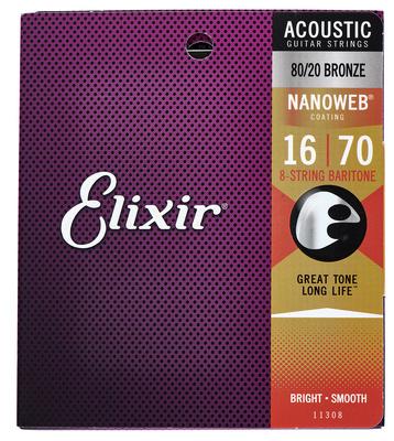 Elixir Nanoweb Baritone 8 String