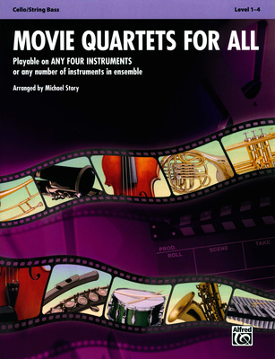 Alfred Music Publishing Movie Quartets for All Cello
