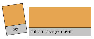 Lee Filter Roll 208 C.T.Orang+.6ND
