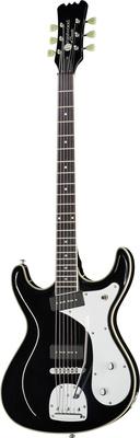 Eastwood Guitars Sidejack Baritone DLX TREM BK