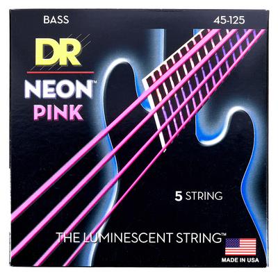 DR Strings HiDef Neon Pink NPB5-45