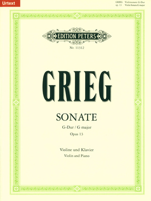 Edition Peters Grieg Sonate 2 op.13 Violin