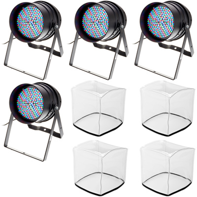 Stairville LED PAR 64 10 mm black Bundle