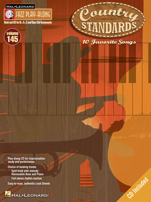 Hal Leonard Jazz Play-Along Country Stand.