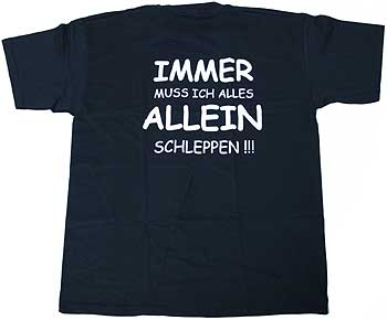 """Thomann T-Shirt """"Immer muss..."""" XXL BK"""