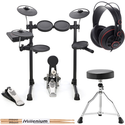 Yamaha dtx450k compact e drum bundle thomann united states for Yamaha dtx450k electronic drum set