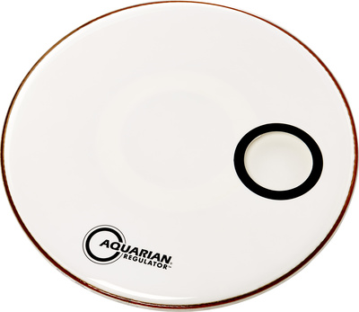 "Aquarian 24"" Regulator White Bass Drum"