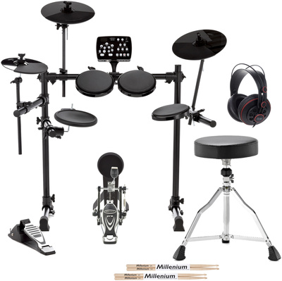 Millenium MPS-250 USB E-Drum Set Bundle
