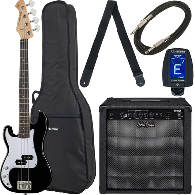 Harley Benton PB-Shorty LH BK Std. Set 2