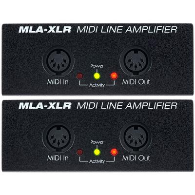 JL Cooper MLA XLR Midi Line Amp Set