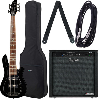 Harley Benton B-650 Black Progressive Bundle