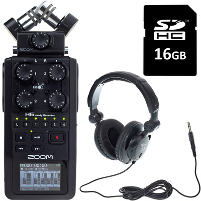 Zoom H6 Card & Headphone Bundle
