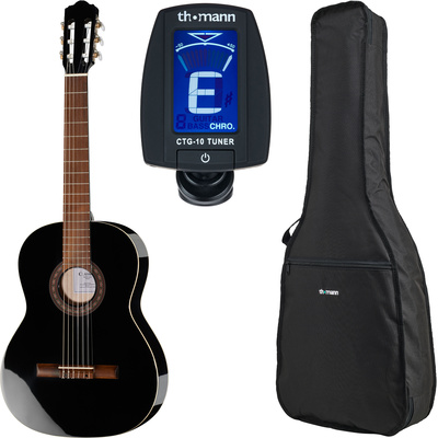 Thomann Classic 4/4 Guitar Blac Bundle