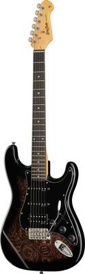 Harley Benton ST-70 Black Paisley