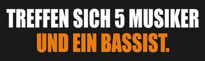 Bandshop Sticker Treffen sich 5 Musiker