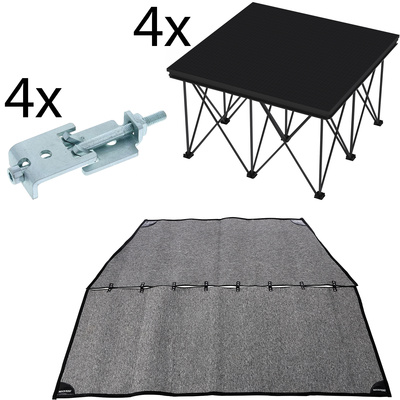 Stairville Drum Riser Bundle 2x2 iX Stage