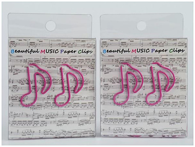A-Gift-Republic Paper Clip Eighth Note Pink