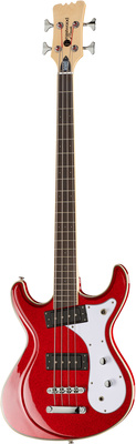 Eastwood Guitars Sidejack Bass 32 Metallic Red