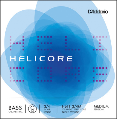 Daddario H611-3/4M Helicore Bass G Med.