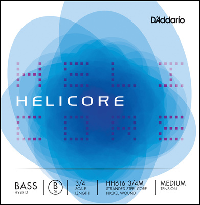 Daddario HH616-3/4M Helicore Bass B Med