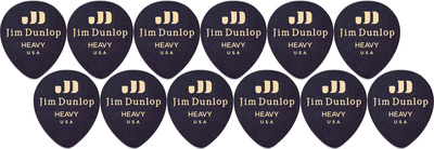 Dunlop Celluloid Teardrop Heavy BK