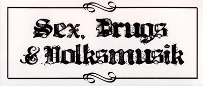 Bandshop Sticker Sex, Drugs & Volksm.