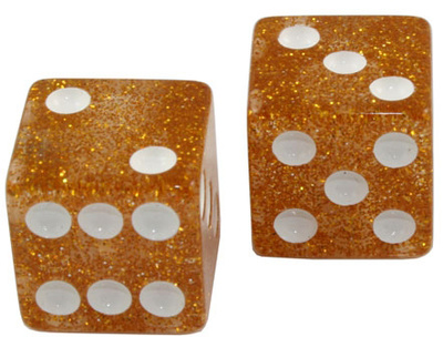 Allparts Dice Knobs Gold Glitter