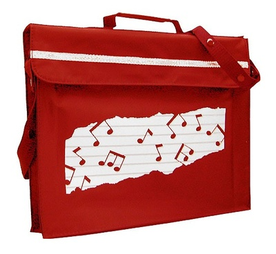 Music Sales Music Bag Sheet Music Red