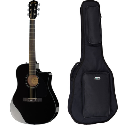 Fender CD-60 CE BK Bundle