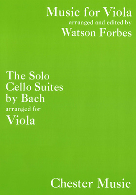 Chester Music Bach The Cello Suites Viola