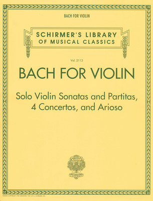 G. Schirmer Bach For Violin