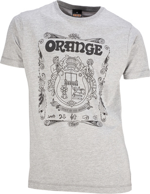 Orange T-Shirt Crest Grey XXL