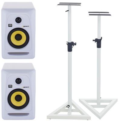 KRK RP5 RoKit G3 White Stand Set