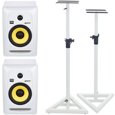 KRK RP6 RoKit G3 White Stand Set