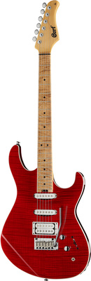 Cort G 260 Limited Flame Top Red