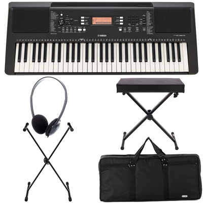 yamaha psr e363 deluxe bundle thomann united states. Black Bedroom Furniture Sets. Home Design Ideas